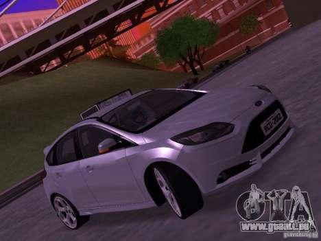 Ford Focus ST 2013 pour GTA San Andreas sur la vue arrière gauche