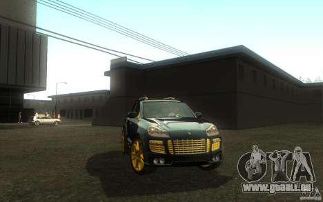 Porsche Cayenne gold pour GTA San Andreas vue de droite
