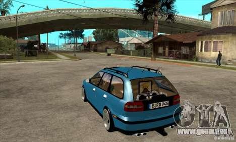 Volvo V40 Gespann pour GTA San Andreas sur la vue arrière gauche