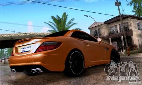 Mercedes Benz SLK55 R172 AMG pour GTA San Andreas laissé vue