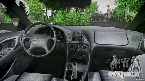 Mitsubishi Eclipse 1998 pour GTA 4 est une vue de dessous