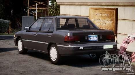 Mercury Tracer 1993 v1.0 pour GTA 4 Vue arrière de la gauche