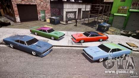 Ride basse de Dodge Charger RT 1969 tun v1.1 pour GTA 4 est une vue de dessous