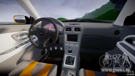 Subaru Impreza STI pour GTA 4 vue de dessus