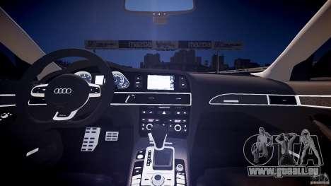 Audi RS6 2009 pour GTA 4 est une vue de l'intérieur