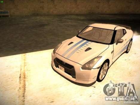Nissan GT-R pour GTA San Andreas vue de dessous