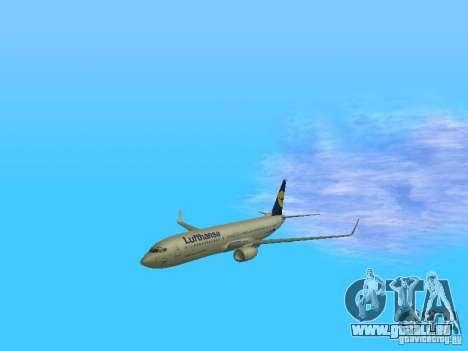 Boeing 737-800 Lufthansa für GTA San Andreas Innenansicht