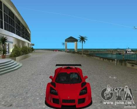 Gumpert Apollo Sport pour une vue GTA Vice City de la droite