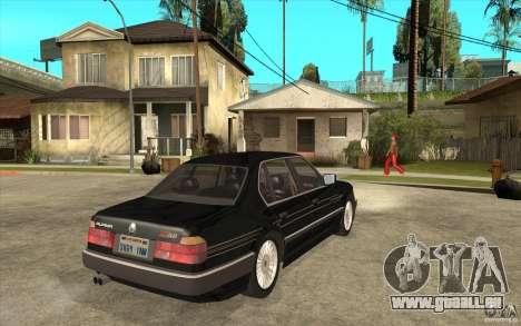 BMW E32 7-er Alpina B12 pour GTA San Andreas vue arrière