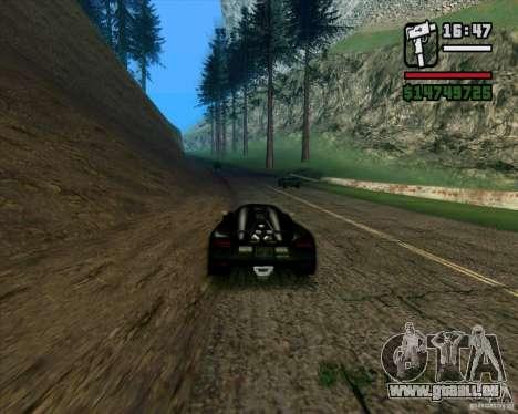 Koenigsegg Agera für GTA San Andreas zurück linke Ansicht