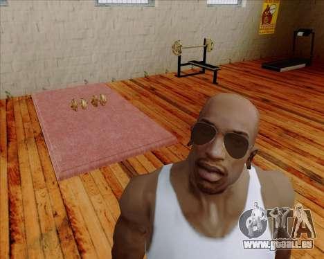 Braun brille Flieger für GTA San Andreas zweiten Screenshot
