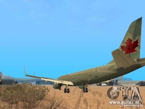 Embraer ERJ 190 Air Canada für GTA San Andreas rechten Ansicht