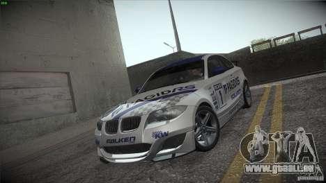 BMW 135i Coupe Road Edition pour GTA San Andreas moteur