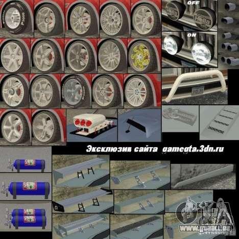 Nouvelles pièces pour le tuning pour GTA San Andreas