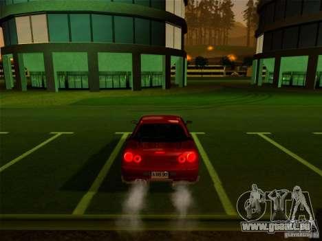 Nissan Skyline GT-R 34 pour GTA San Andreas vue arrière