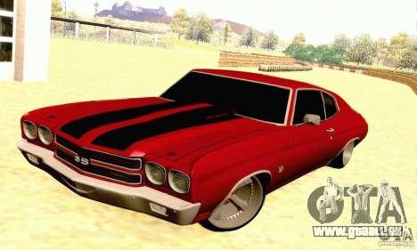 Chevrolet Chevelle 1970 pour GTA San Andreas vue de dessus