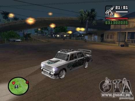 Tuning de voiture Vaz 2101 pour GTA San Andreas sur la vue arrière gauche