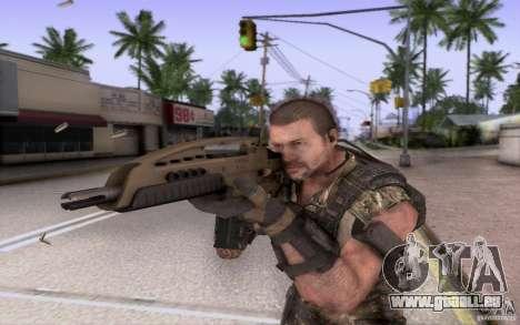 HK XM8 eotech pour GTA San Andreas troisième écran