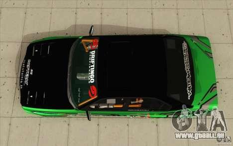 BMW E34 V8 Wide Body pour GTA San Andreas vue de droite