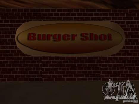 New Burger Shot pour GTA San Andreas quatrième écran