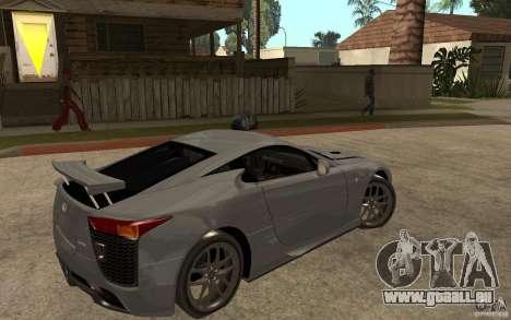 Lexus LFA 2010 pour GTA San Andreas vue de droite