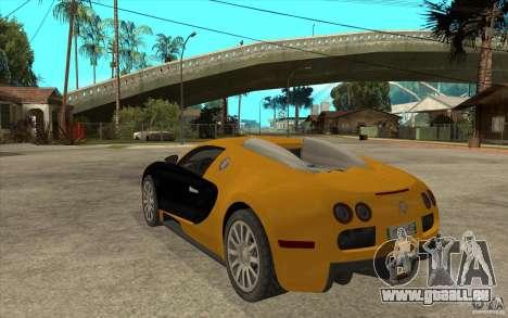 Bugatti Veyron v1.0 pour GTA San Andreas sur la vue arrière gauche