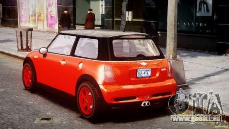 Mini Cooper S 2003 v1.2 pour GTA 4 Vue arrière de la gauche