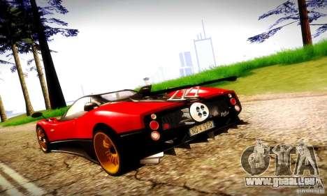 Pagani Zonda Tricolore V2 pour GTA San Andreas vue de droite