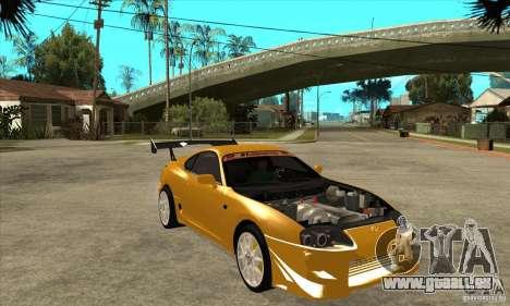 Toyota Supra D1GP für GTA San Andreas Rückansicht