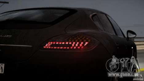 Porsche Panamera Turbo 2010 Black Edition für GTA 4 obere Ansicht