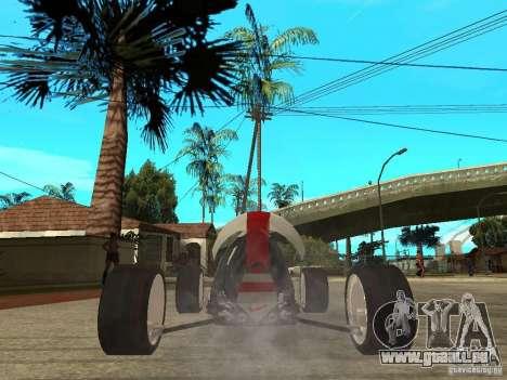 Nike One pour GTA San Andreas sur la vue arrière gauche