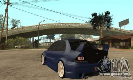 Mitsubishi Lancer 2006 Tuned für GTA San Andreas zurück linke Ansicht