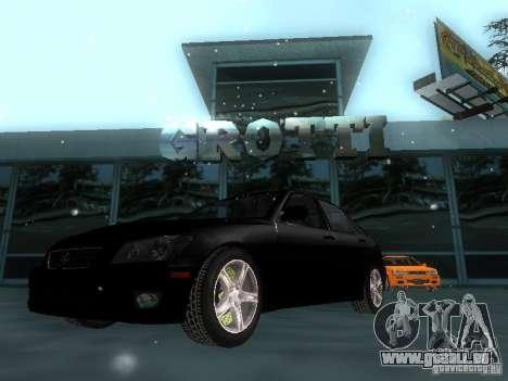 Lexus IS300 pour GTA San Andreas salon