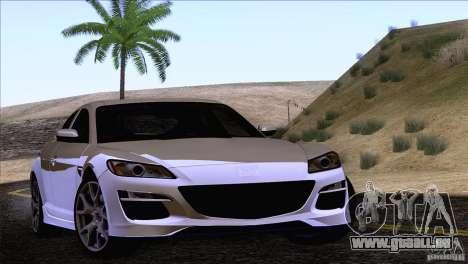 Mazda RX8 R3 2011 für GTA San Andreas Rückansicht