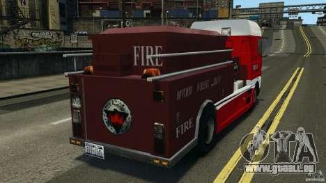 DAF XF Firetruck pour GTA 4 Vue arrière de la gauche