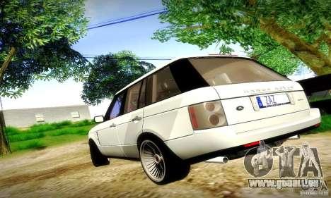 Range Rover Supercharged für GTA San Andreas Seitenansicht