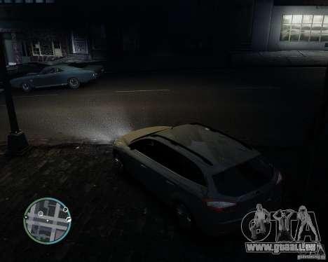 Ford Mondeo Mk4 pour GTA 4 est une vue de l'intérieur