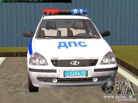 LADA 2170 Polizei für GTA San Andreas rechten Ansicht