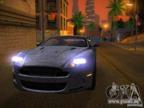 Aston Martin DBS pour GTA San Andreas vue de dessus
