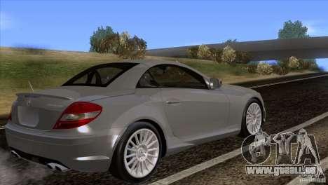 Mercedes-Benz SLK 55 AMG pour GTA San Andreas laissé vue