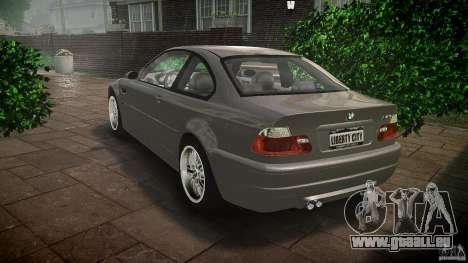 BMW M3 e46 v1.1 pour GTA 4 Vue arrière de la gauche