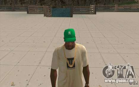 Newyorkyankiys Cap Grün für GTA San Andreas zweiten Screenshot