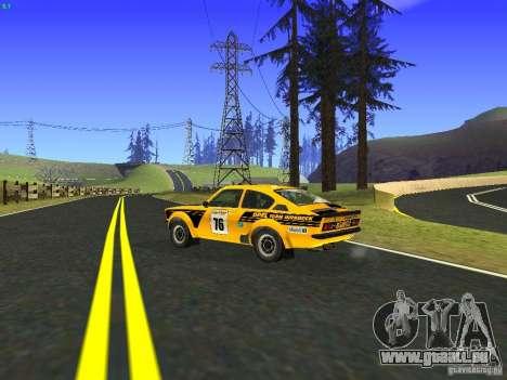 Opel Kadett pour GTA San Andreas vue intérieure