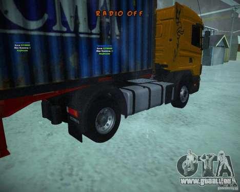 Scania 164L pour GTA San Andreas sur la vue arrière gauche