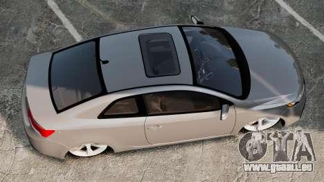 Kia Cerato Koup Edit für GTA 4 rechte Ansicht