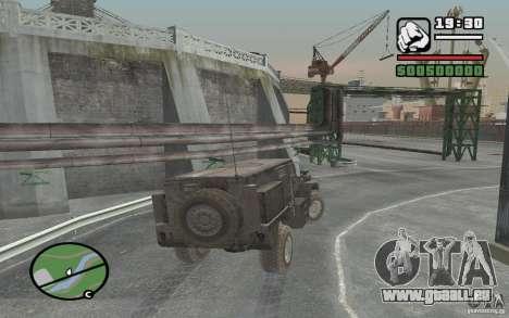 Camion militaire pour GTA San Andreas vue arrière