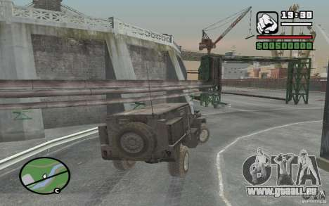 Militär LKW für GTA San Andreas Rückansicht