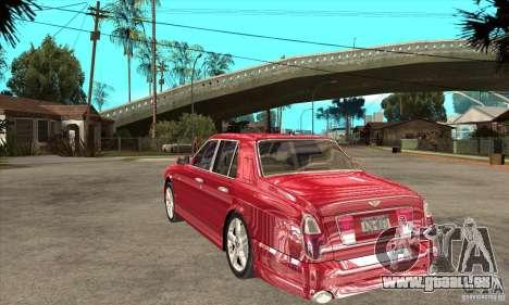 Bentley Arnage T pour GTA San Andreas vue de droite