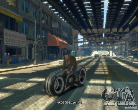 Moto du trône (néon gris) pour GTA 4 Vue arrière