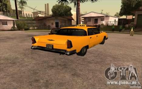 Oceanic Cab pour GTA San Andreas sur la vue arrière gauche